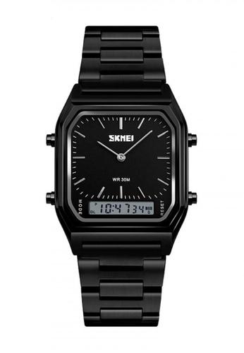 Fashion by Latest Gadget black 1220 Fashion EL Backlight Waterproof  Watch 04680AC68687DEGS_1