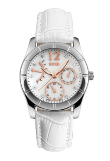 SKMEI 6911 Ladies's Fashion Elegant Quartz Leather Strap Watch (White) SK707AC0RXDPMY_1