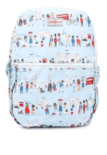 Cath Kidston blue London People Foldaway Backpack 9FE44AC5D8F443GS_1