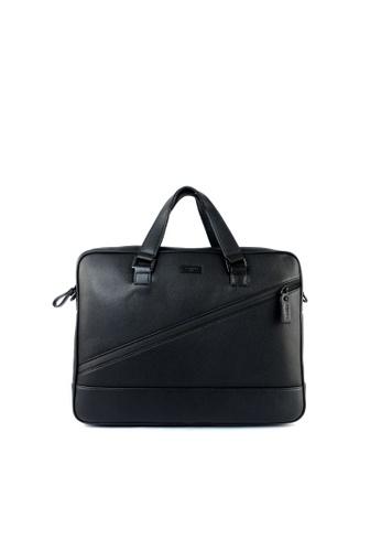 RENOMA Paris black Renoma Men's Sling Briefcase 1960071-02 649EFAC5305F5AGS_1