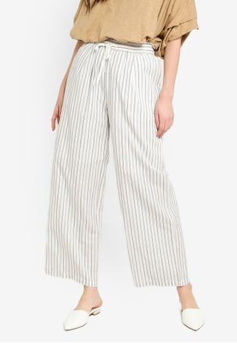 niko and ... white Woven Stripe Pants 1EF62AA2E2B52EGS_1