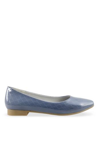 Footspot blue FOOTSPOT - Casual Sqare Toe Flats FO296SH2V7YFHK_1