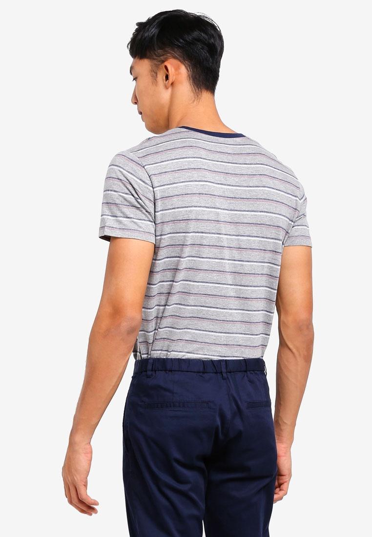 Grey Short T ESPRIT Shirt Sleeve Medium pwqxwzXnT