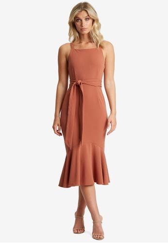 Chancery pink Elianna Midi Dress 0BEE9AA0EFC79FGS_1