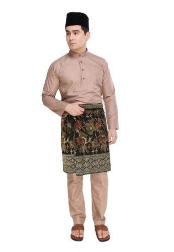 Amar Amran brown and beige Baju Melayu Moden 7C9AEAAB67436BGS_1