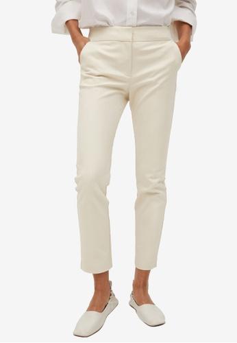 Mango beige Suit Slim-Fit Trousers 90681AAA2CFBE4GS_1