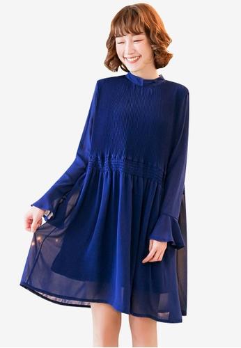 20fb8269cfbf25 Buy Tokichoi Pleated Chiffon Dress Online on ZALORA Singapore