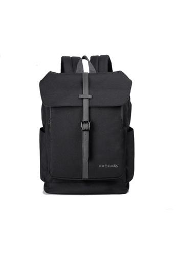 GreyPlus black EXTEAM 15inch Laptop Backpack GR720AC0FEIESG_1