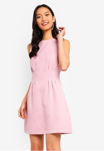 ZALORA pink Pleats Details Dress 1F2E5AA904EE2BGS_1