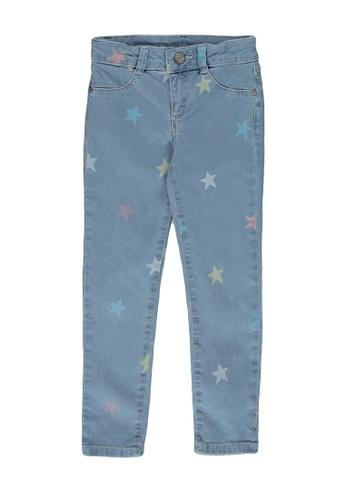 LC Waikiki black Girl's Skinny Stars Jeans 9AF43KA7B02903GS_1