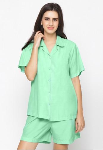 Impression green Pajamas Set 9105 C20BBAA0BBD194GS_1