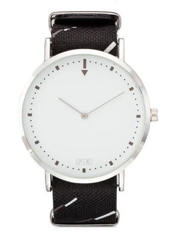 雙色錶帶圓框手錶, 錶類, 飾品配esprit taiwan件