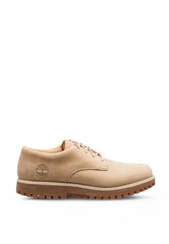 Timberland beige Jackson's Landing Moc-Toe Oxford Shoes 9D369SH09C0BE2GS_1