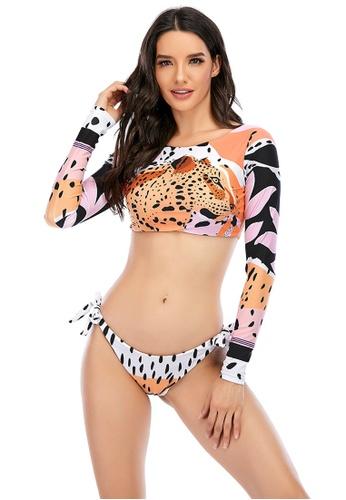 LYCKA multi LKL7073a-European Style Lady Bikini Set-Multi 5ACC1USDF7FBFDGS_1