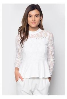 Korean White Lace Blouse