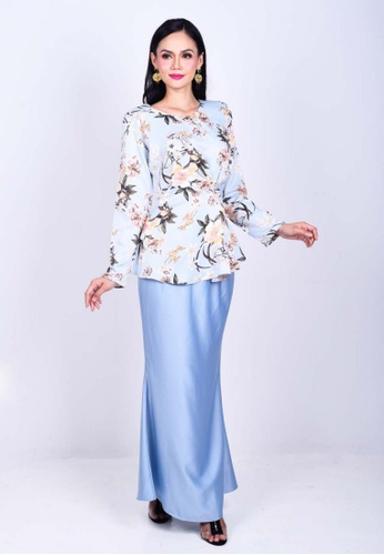 Daisha Zaskia Kurung Modern from KAMDAR in Blue