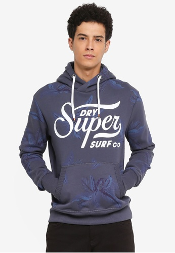 Superdry black Super Surf Cross Over Hood 38DBBAA1821EDBGS_1