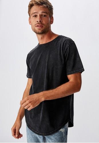Cotton On black Longline Curve Hem Burnout 4ACC5AA722630AGS_1