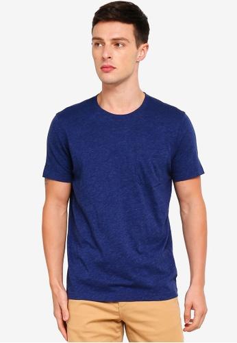 Brooks Brothers 藍色 口袋T恤 4E77DAA72E56DDGS_1