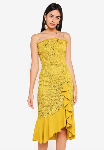 Finders Keepers yellow Sunseeker Midi Dress 0725AAA4FB0434GS_1