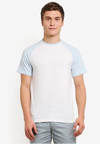 ZALORA 白色 插肩 短袖 T卹 4150FAA1B9625EGS_1
