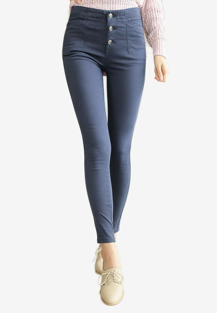 Button Down Skinny Pants