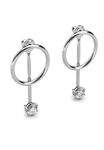 Her Jewellery silver Hazel Drop Earrings -  Embellished with Crystals from Swarovski® 07907AC94BDD69GS_1