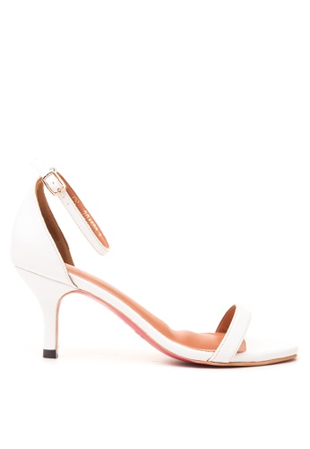 CARMELLETES white HIGH HEELED ANKLE STRAP SANDALS CA179SH40XOTPH_1