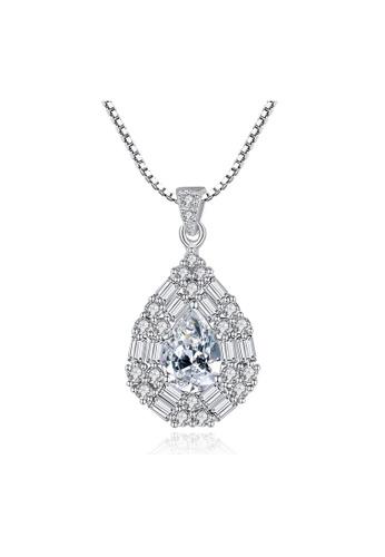 SUNRAIS silver Premium Silver S925 Silver Drop Shaped Necklace 01DABACFF83E63GS_1