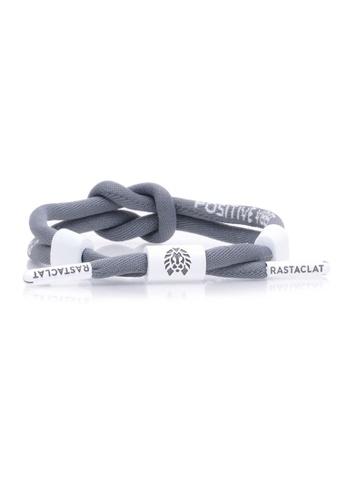 Rastaclat grey Knotted Bracelet: Positive Vibes Grey 86763AC4736523GS_1