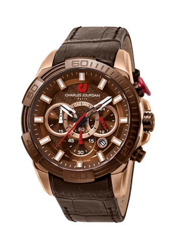 Charles Jourdan brown Charles Jourdan Men Watch Chronograph CJ1025-1542C DD4D7ACF456675GS_1