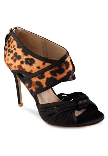 交zalora 心得叉豹紋細跟高跟鞋, 女鞋, 高跟