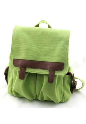 """Esther Accessories green Heavy Canvas Backpack With 10"""" Tablet Compartment (Green) ES153AC78WSVHK_1"""