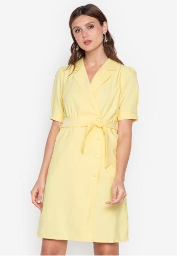 R.A.F. by Plains & Prints yellow RAF Virgil Short Sleeves Dress 49A6FAA53F06ADGS_1