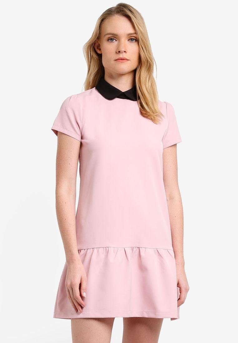 Dress Dress ZALORA Hem ZALORA Blush Frill Blush Frill Hem SxqwZgg4