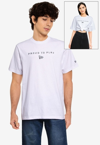 NEW ERA white Short Sleeve Proud To Play Tee 92F0EAAFD62406GS_1