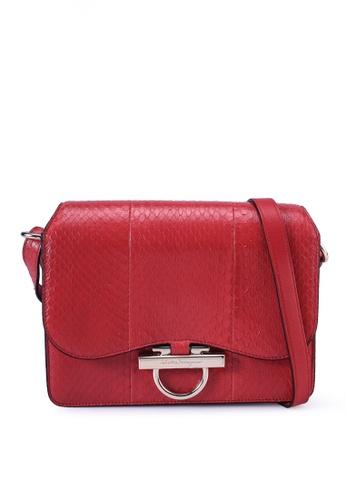 Ferragamo red Joanne Flap Shoulder Bag (oc) 71C60ACBB326B8GS_1