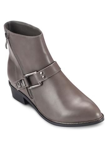 鉚釘扣環帶esprit holdings limited拉鍊短靴, 女鞋, 鞋