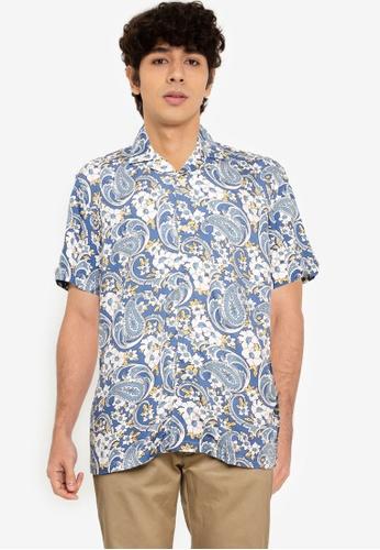Ben Sherman blue Floral Paisley Shirt 63FA5AA8D91832GS_1