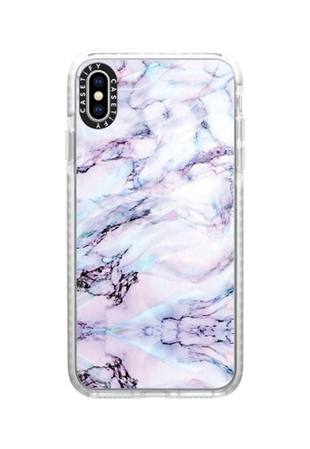 Casetify white and multi Marble Swirl Protective Impact Case with Camera Ring For iPhone XS Max - Frost DFEABAC5033B3AGS_1