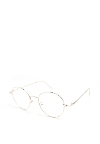 Peculiar and Odd silver Round Eyeglasses 9007 Anti-radiation Replaceable Lenses 79FFCGL4EF2E1FGS_1