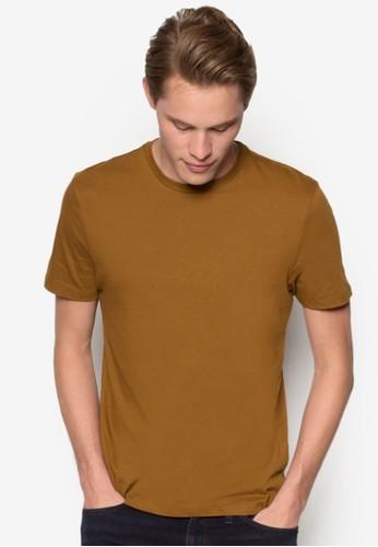 羅紋領素色短袖TEE, 服esprit地址飾, 服飾