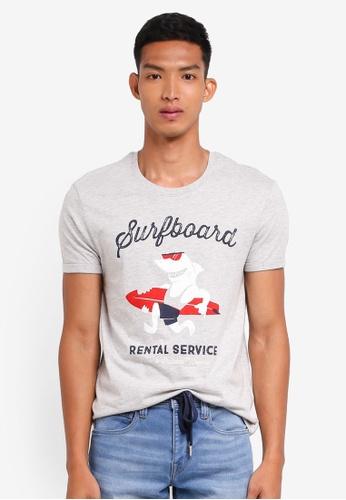 ESPRIT grey Printed Short Sleeve T-Shirt D2E45AAACC15F4GS_1