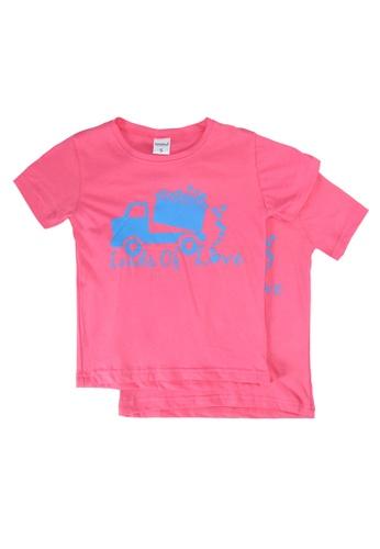 UniqTee pink Loads Of Love Tee 2-Pack D7BDAKA1BEC4F6GS_1