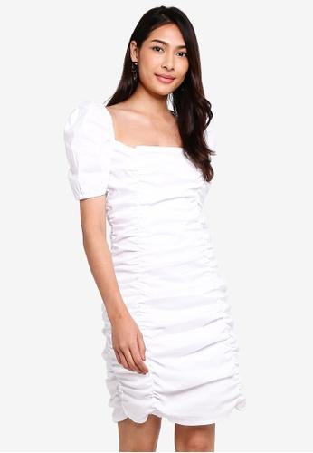 Glamorous 白色 方領Wrinkled 洋裝 23FA7AA815CB2FGS_1