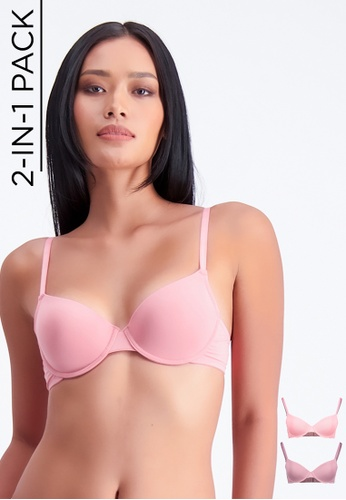 BENCH pink 2-in-1 Push-Up Bra ACDA1USA2D8C80GS_1