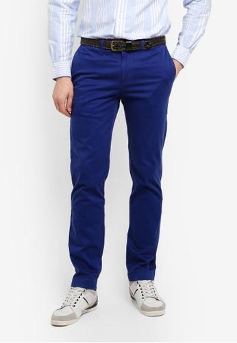 Brooks Brothers 海軍藍色 修身直筒長褲 563B1AA1CEAEDDGS_1