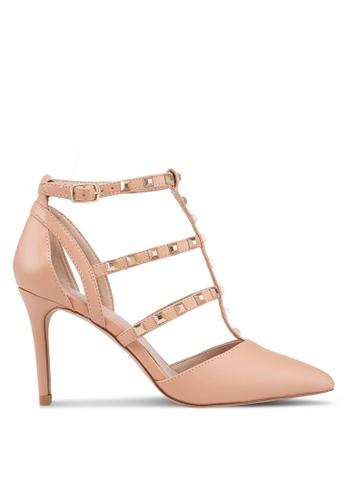 ALDO 米褐色 金屬感高跟鞋 D3CB7SHD500792GS_1