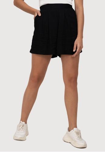 H&M black Shorts High Waist 8343BAAB75DFA2GS_1