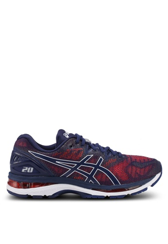 Asics blue and multi Gel-Nimbus 20 Shoes AS989SH0SVS7MY_1